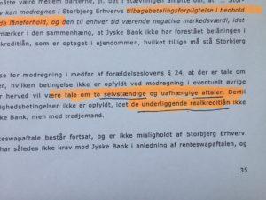 26. Bilag 55. side 35 se det tydligt -her står det tydligt at Swap er til det underlægende lån på 4.328.000 kr. bilag 31 Hvorfor Bestyrelsen udsætter aktionærerne i jyske bank for denne her bedrageri sag Det må i spørger Anders Dam Om OM JYSKE BANKS MEDARBEJDER OG KONCERN LEDERNE KENDER TIL ÆRLIGHED HÆDERLIGHED TROVÆRDIGHED ? PAS det er et svært spørgsmål https://www.jyskebank.dk/omjyskebank/organisation/koncernledergruppe :-) DEN DANSKE BANK, JYSK EBANK UNDERSØGES FOR IMOD BANKENS KUNDE Svindlen kunne lade sig gøre, da udnyttelsen blev lagt ind og sat i system, mens kunde var langtidssyg efter blandt andet en hjerneblødning Og her efter var kunden er nemt offer for jyske banks ansatte, som sikkert troede det var et tag selv bord. MEN JYSKE BANKS ANSATTE HELT OP TIL KONCERNLEDELSEN TO GRUELIG FEJL AF DERES OFFER SOM BÅDE KOM SIG OG OPKLAREDE BEDRAGET At Jyske Bank ved manipulation, og kraftig vildledning kunne snyde og bedrage kunde, var så perfekt udført at selv ikke kundes advokater fatted, den mindste mistanke, til at jyske bank lavede svig, ved at lyve om lån der ikke fandtes, og har fjernet bilag samt misbrugt bilag, ændret i bilag - HVAD SKAL VI GØRE; JO VI RÅBER OP OG VIL HAVE EN DOM OVER JYSKE BANK FOR SVIG :-) § 279. For #bedrageri § 280. For #mandatsvig § 281. For #afpresning § 282. For #åger § 283. For #skyldnersvig Kunde der er blevet udsat for bedrageri gennem 10 år af jyske bank, fortæller hvordan han har forsøgt at få koncernledelsen i jyske bank til at tale med ham Alle i koncernen nægter at svare, men vælger at fortsætte dette meget grove bedrageri, selv om ledelsen mindst har været bekendt med svindel i over 2 år. Et #bedrageri som den samlede koncern ledelse ikke tager afstand fra, og derfor støtter bestyrelsen fortsat bedrageri af lille #virksomhed :-) #Bestyrelsen i #jyskebank #SvenBuhrkall #KurtBligaardPedersen #RinaAsmussen #PhilipBaruch #JensBorup #KeldNorup #ChristinaLykkeMunk #JohnnyChristensen #MarianneLillevang #AndersDam #NielsErikJakobs