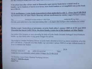 Brev 22-08-2018 ANSVAR til koncernledelsen jyskebank Hvorfor Bestyrelsen udsætter aktionærerne i jyske bank for denne her bedrageri sag Det må i spørger Anders Dam Om OM JYSKE BANKS MEDARBEJDER OG KONCERN LEDERNE KENDER TIL ÆRLIGHED HÆDERLIGHED TROVÆRDIGHED ? PAS det er et svært spørgsmål https://www.jyskebank.dk/omjyskebank/organisation/koncernledergruppe :-) DEN DANSKE BANK, JYSK EBANK UNDERSØGES FOR IMOD BANKENS KUNDE Svindlen kunne lade sig gøre, da udnyttelsen blev lagt ind og sat i system, mens kunde var langtidssyg efter blandt andet en hjerneblødning Og her efter var kunden er nemt offer for jyske banks ansatte, som sikkert troede det var et tag selv bord. MEN JYSKE BANKS ANSATTE HELT OP TIL KONCERNLEDELSEN TO GRUELIG FEJL AF DERES OFFER SOM BÅDE KOM SIG OG OPKLAREDE BEDRAGET At Jyske Bank ved manipulation, og kraftig vildledning kunne snyde og bedrage kunde, var så perfekt udført at selv ikke kundes advokater fatted, den mindste mistanke, til at jyske bank lavede svig, ved at lyve om lån der ikke fandtes, og har fjernet bilag samt misbrugt bilag, ændret i bilag - HVAD SKAL VI GØRE; JO VI RÅBER OP OG VIL HAVE EN DOM OVER JYSKE BANK FOR SVIG :-) § 279. For #bedrageri § 280. For #mandatsvig § 281. For #afpresning § 282. For #åger § 283. For #skyldnersvig Kunde der er blevet udsat for bedrageri gennem 10 år af jyske bank, fortæller hvordan han har forsøgt at få koncernledelsen i jyske bank til at tale med ham Alle i koncernen nægter at svare, men vælger at fortsætte dette meget grove bedrageri, selv om ledelsen mindst har været bekendt med svindel i over 2 år. Et #bedrageri som den samlede koncern ledelse ikke tager afstand fra, og derfor støtter bestyrelsen fortsat bedrageri af lille #virksomhed :-) #Bestyrelsen i #jyskebank #SvenBuhrkall #KurtBligaardPedersen #RinaAsmussen #PhilipBaruch #JensBorup #KeldNorup #ChristinaLykkeMunk #JohnnyChristensen #MarianneLillevang #AndersDam #NielsErikJakobsen #PerSkovhus #PeterSchleidt #Nykredit #MetteEgholmNielsen Siger de