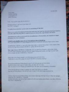 Brev 22-08-2018 til koncernledelsen jyskebank S.1-3 Hvorfor Bestyrelsen udsætter aktionærerne i jyske bank for denne her bedrageri sag Det må i spørger Anders Dam Om OM JYSKE BANKS MEDARBEJDER OG KONCERN LEDERNE KENDER TIL ÆRLIGHED HÆDERLIGHED TROVÆRDIGHED ? PAS det er et svært spørgsmål https://www.jyskebank.dk/omjyskebank/organisation/koncernledergruppe :-) DEN DANSKE BANK, JYSK EBANK UNDERSØGES FOR IMOD BANKENS KUNDE Svindlen kunne lade sig gøre, da udnyttelsen blev lagt ind og sat i system, mens kunde var langtidssyg efter blandt andet en hjerneblødning Og her efter var kunden er nemt offer for jyske banks ansatte, som sikkert troede det var et tag selv bord. MEN JYSKE BANKS ANSATTE HELT OP TIL KONCERNLEDELSEN TO GRUELIG FEJL AF DERES OFFER SOM BÅDE KOM SIG OG OPKLAREDE BEDRAGET At Jyske Bank ved manipulation, og kraftig vildledning kunne snyde og bedrage kunde, var så perfekt udført at selv ikke kundes advokater fatted, den mindste mistanke, til at jyske bank lavede svig, ved at lyve om lån der ikke fandtes, og har fjernet bilag samt misbrugt bilag, ændret i bilag - HVAD SKAL VI GØRE; JO VI RÅBER OP OG VIL HAVE EN DOM OVER JYSKE BANK FOR SVIG :-) § 279. For #bedrageri § 280. For #mandatsvig § 281. For #afpresning § 282. For #åger § 283. For #skyldnersvig Kunde der er blevet udsat for bedrageri gennem 10 år af jyske bank, fortæller hvordan han har forsøgt at få koncernledelsen i jyske bank til at tale med ham Alle i koncernen nægter at svare, men vælger at fortsætte dette meget grove bedrageri, selv om ledelsen mindst har været bekendt med svindel i over 2 år. Et #bedrageri som den samlede koncern ledelse ikke tager afstand fra, og derfor støtter bestyrelsen fortsat bedrageri af lille #virksomhed :-) #Bestyrelsen i #jyskebank #SvenBuhrkall #KurtBligaardPedersen #RinaAsmussen #PhilipBaruch #JensBorup #KeldNorup #ChristinaLykkeMunk #JohnnyChristensen #MarianneLillevang #AndersDam #NielsErikJakobsen #PerSkovhus #PeterSchleidt #Nykredit #MetteEgholmNielsen Siger de 
