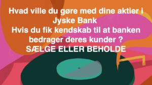 Hvorfor Bestyrelsen udsætter aktionærerne i jyske bank for denne her bedrageri sag Det må i spørger Anders Dam Om OM JYSKE BANKS MEDARBEJDER OG KONCERN LEDERNE KENDER TIL ÆRLIGHED HÆDERLIGHED TROVÆRDIGHED ? PAS det er et svært spørgsmål https://www.jyskebank.dk/omjyskebank/organisation/koncernledergruppe :-) DEN DANSKE BANK, JYSK EBANK UNDERSØGES FOR IMOD BANKENS KUNDE Svindlen kunne lade sig gøre, da udnyttelsen blev lagt ind og sat i system, mens kunde var langtidssyg efter blandt andet en hjerneblødning Og her efter var kunden er nemt offer for jyske banks ansatte, som sikkert troede det var et tag selv bord. MEN JYSKE BANKS ANSATTE HELT OP TIL KONCERNLEDELSEN TO GRUELIG FEJL AF DERES OFFER SOM BÅDE KOM SIG OG OPKLAREDE BEDRAGET At Jyske Bank ved manipulation, og kraftig vildledning kunne snyde og bedrage kunde, var så perfekt udført at selv ikke kundes advokater fatted, den mindste mistanke, til at jyske bank lavede svig, ved at lyve om lån der ikke fandtes, og har fjernet bilag samt misbrugt bilag, ændret i bilag - HVAD SKAL VI GØRE; JO VI RÅBER OP OG VIL HAVE EN DOM OVER JYSKE BANK FOR SVIG :-) § 279. For #bedrageri § 280. For #mandatsvig § 281. For #afpresning § 282. For #åger § 283. For #skyldnersvig Kunde der er blevet udsat for bedrageri gennem 10 år af jyske bank, fortæller hvordan han har forsøgt at få koncernledelsen i jyske bank til at tale med ham Alle i koncernen nægter at svare, men vælger at fortsætte dette meget grove bedrageri, selv om ledelsen mindst har været bekendt med svindel i over 2 år. Et #bedrageri som den samlede koncern ledelse ikke tager afstand fra, og derfor støtter bestyrelsen fortsat bedrageri af lille #virksomhed :-) #Bestyrelsen i #jyskebank #SvenBuhrkall #KurtBligaardPedersen #RinaAsmussen #PhilipBaruch #JensBorup #KeldNorup #ChristinaLykkeMunk #JohnnyChristensen #MarianneLillevang #AndersDam #NielsErikJakobsen #PerSkovhus #PeterSchleidt #Nykredit #MetteEgholmNielsen Siger de ikke vil leverer skyts mod #jysk #ebank :-) #Lån #Gr