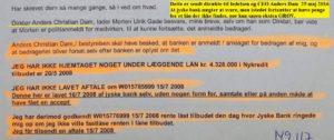 Mail til Anders Dam 25 maj 2016, her kan ledelsen i jyske bank ikke længer værer i tivl om at jyske bank bedrager kunde, en sag der kun vokser Hvorfor Bestyrelsen udsætter aktionærerne i jyske bank for denne her bedrageri sag Det må i spørger Anders Dam Om OM JYSKE BANKS MEDARBEJDER OG KONCERN LEDERNE KENDER TIL ÆRLIGHED HÆDERLIGHED TROVÆRDIGHED ? PAS det er et svært spørgsmål https://www.jyskebank.dk/omjyskebank/organisation/koncernledergruppe :-) DEN DANSKE BANK, JYSK EBANK UNDERSØGES FOR IMOD BANKENS KUNDE Svindlen kunne lade sig gøre, da udnyttelsen blev lagt ind og sat i system, mens kunde var langtidssyg efter blandt andet en hjerneblødning Og her efter var kunden er nemt offer for jyske banks ansatte, som sikkert troede det var et tag selv bord. MEN JYSKE BANKS ANSATTE HELT OP TIL KONCERNLEDELSEN TO GRUELIG FEJL AF DERES OFFER SOM BÅDE KOM SIG OG OPKLAREDE BEDRAGET At Jyske Bank ved manipulation, og kraftig vildledning kunne snyde og bedrage kunde, var så perfekt udført at selv ikke kundes advokater fatted, den mindste mistanke, til at jyske bank lavede svig, ved at lyve om lån der ikke fandtes, og har fjernet bilag samt misbrugt bilag, ændret i bilag - HVAD SKAL VI GØRE; JO VI RÅBER OP OG VIL HAVE EN DOM OVER JYSKE BANK FOR SVIG :-) § 279. For #bedrageri § 280. For #mandatsvig § 281. For #afpresning § 282. For #åger § 283. For #skyldnersvig Kunde der er blevet udsat for bedrageri gennem 10 år af jyske bank, fortæller hvordan han har forsøgt at få koncernledelsen i jyske bank til at tale med ham Alle i koncernen nægter at svare, men vælger at fortsætte dette meget grove bedrageri, selv om ledelsen mindst har været bekendt med svindel i over 2 år. Et #bedrageri som den samlede koncern ledelse ikke tager afstand fra, og derfor støtter bestyrelsen fortsat bedrageri af lille #virksomhed :-) #Bestyrelsen i #jyskebank #SvenBuhrkall #KurtBligaardPedersen #RinaAsmussen #PhilipBaruch #JensBorup #KeldNorup #ChristinaLykkeMunk #JohnnyChristensen #MarianneLillevang #Ande